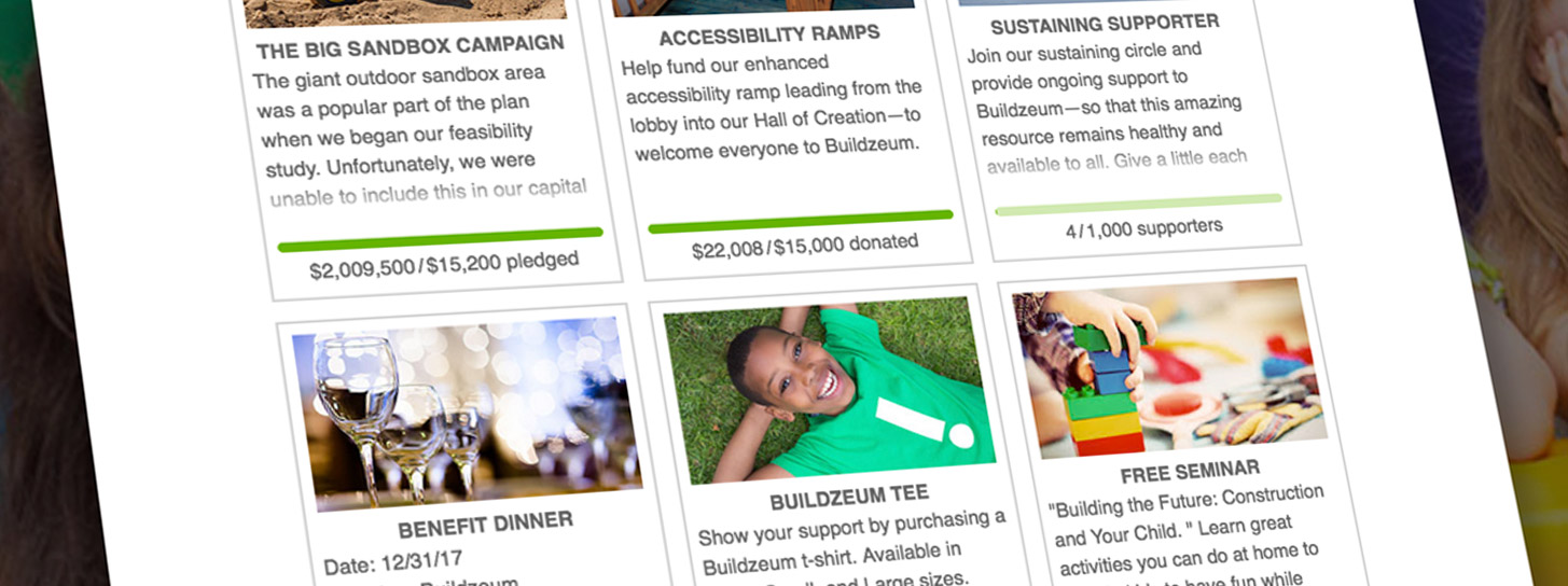 Show numerous appeals on your giving page. Click one to expand it. Check out once.