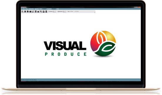 Visual Produce login page