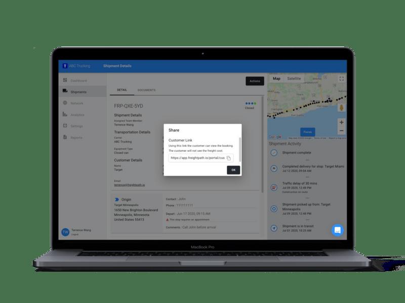 FreightPath customer portal