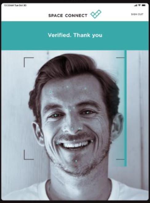 Space Connect facial recognition