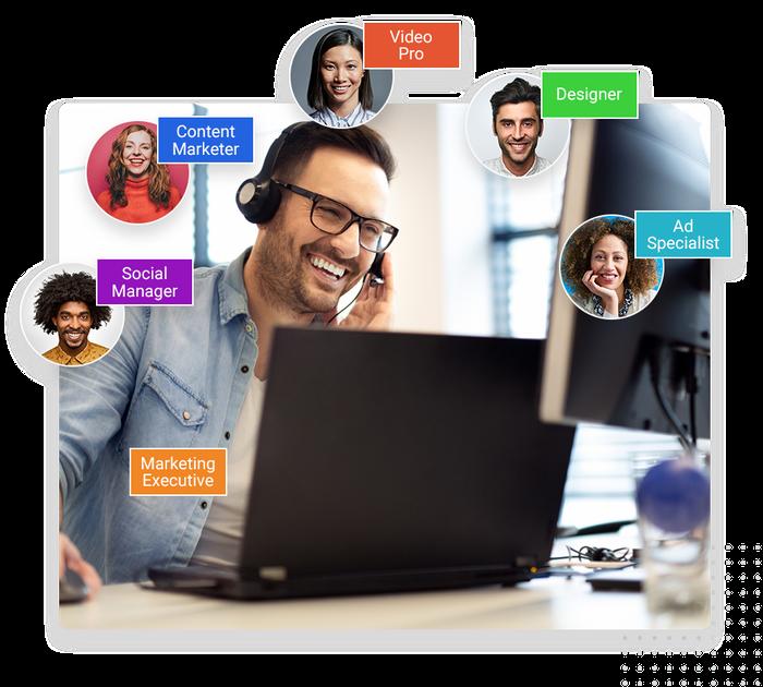 Marketing 360 Software - Dedicated marketing team.