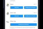 Swing2App screenshot: Swing2App list of user apps