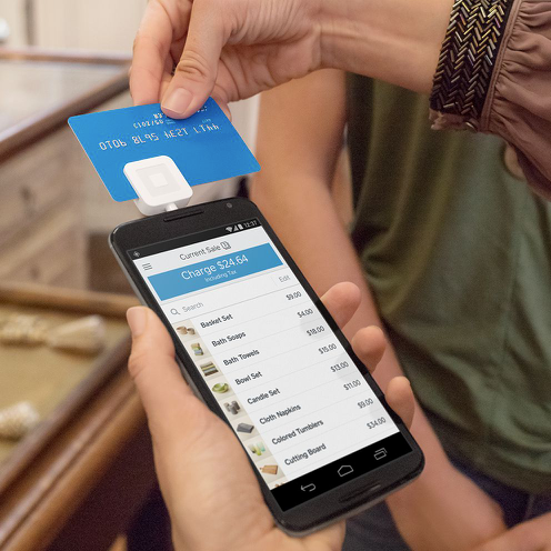 Connect Square payments processing with Square hardware devices to accept all major credit cards