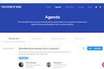 Captura de pantalla de BigMarker: Virtual Event Agenda