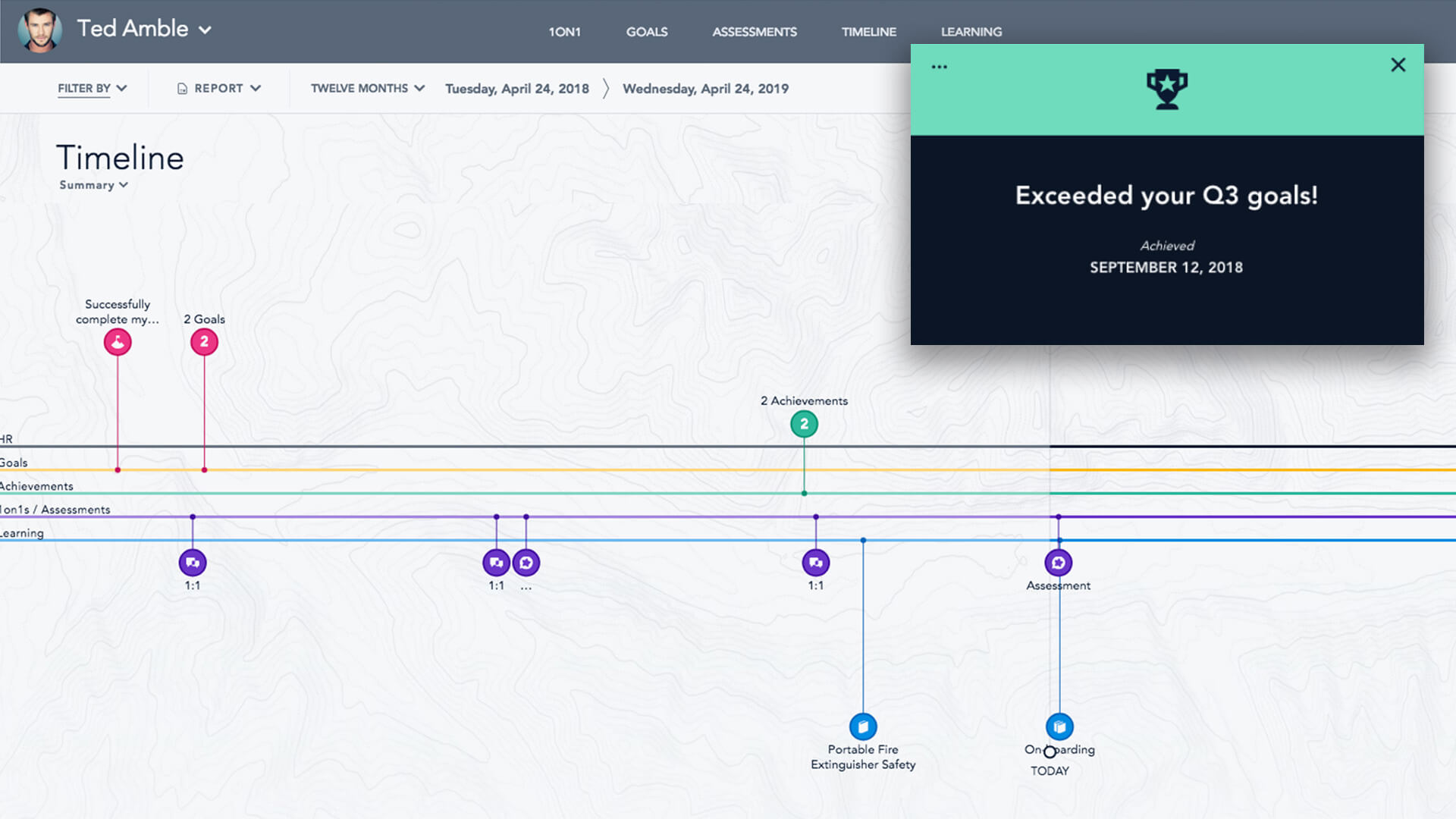 TIMELINE: Employees want continuous feedback and opportunities to grow their skills. Bridge shifts the focus from annual report cards to year-round learning, growth, and development.