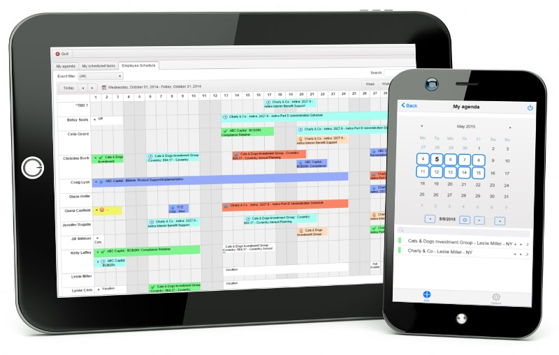 Visual Planning Cloud can be accessed on any device to manage agendas