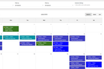 Bizstim screenshot: Use the calendar tool to schedule appointments, classes, sessions, or other events