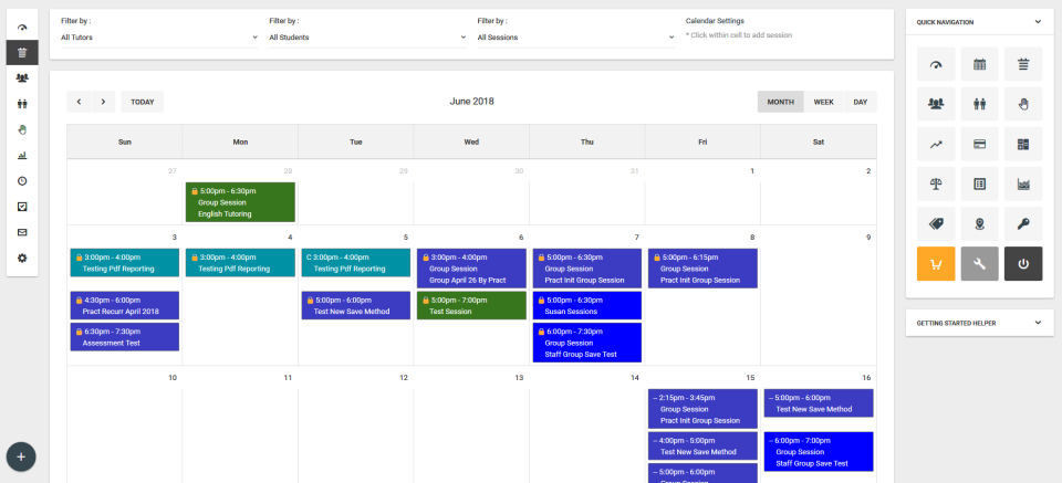 Use the calendar tool to schedule appointments, classes, sessions, or other events