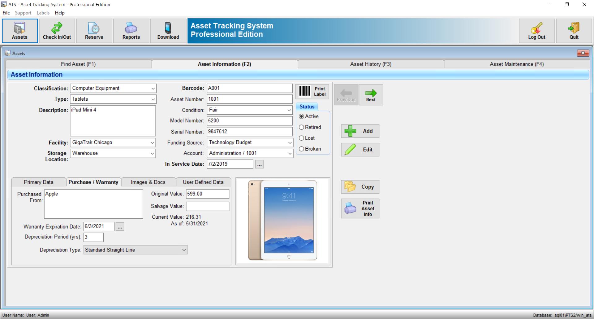 GigaTrak Asset Tracking System Software - 3
