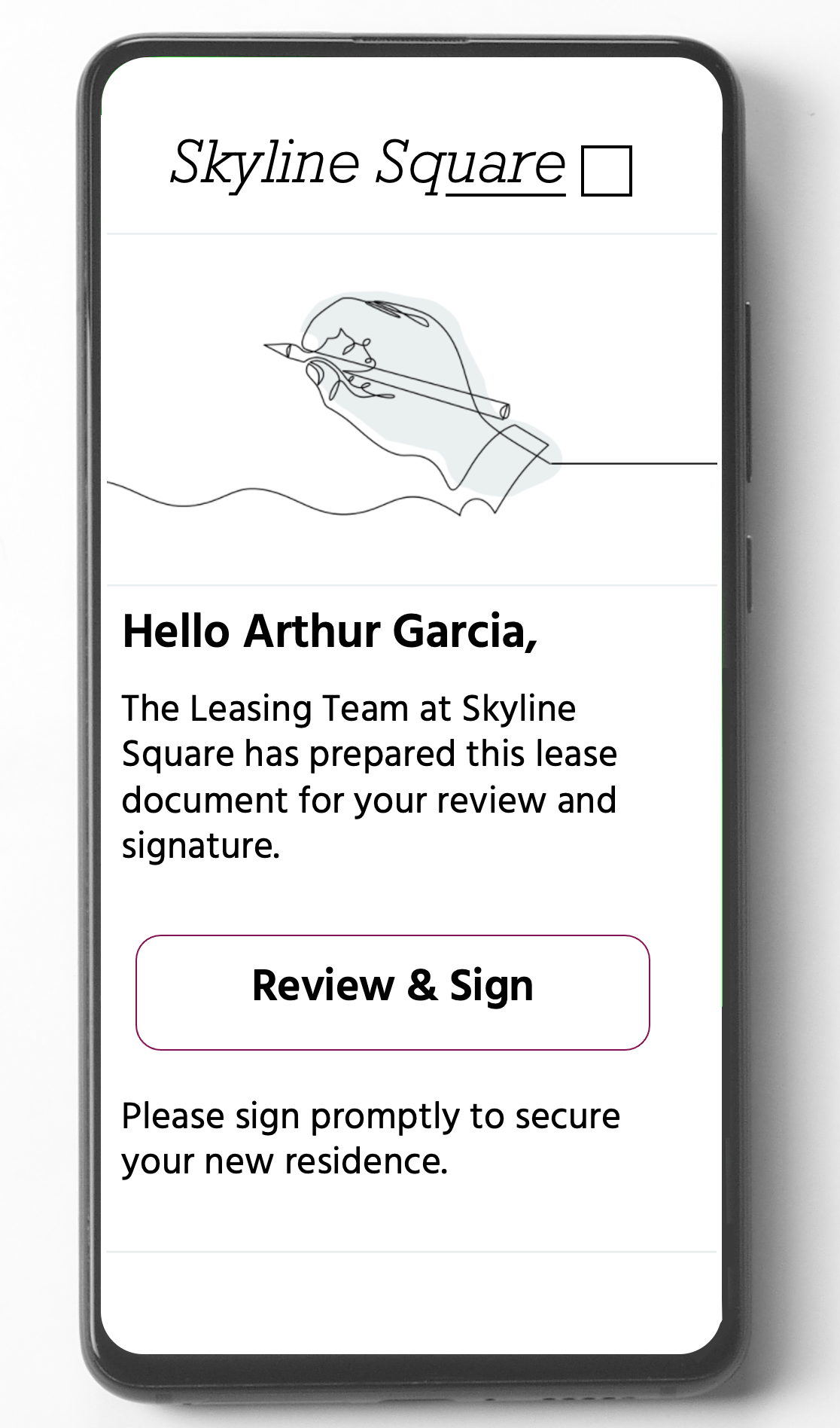mobile friendly digital signing process