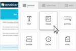 Captura de tela do Enabler: Create responsive email templates with the simple drag-and-drop editor
