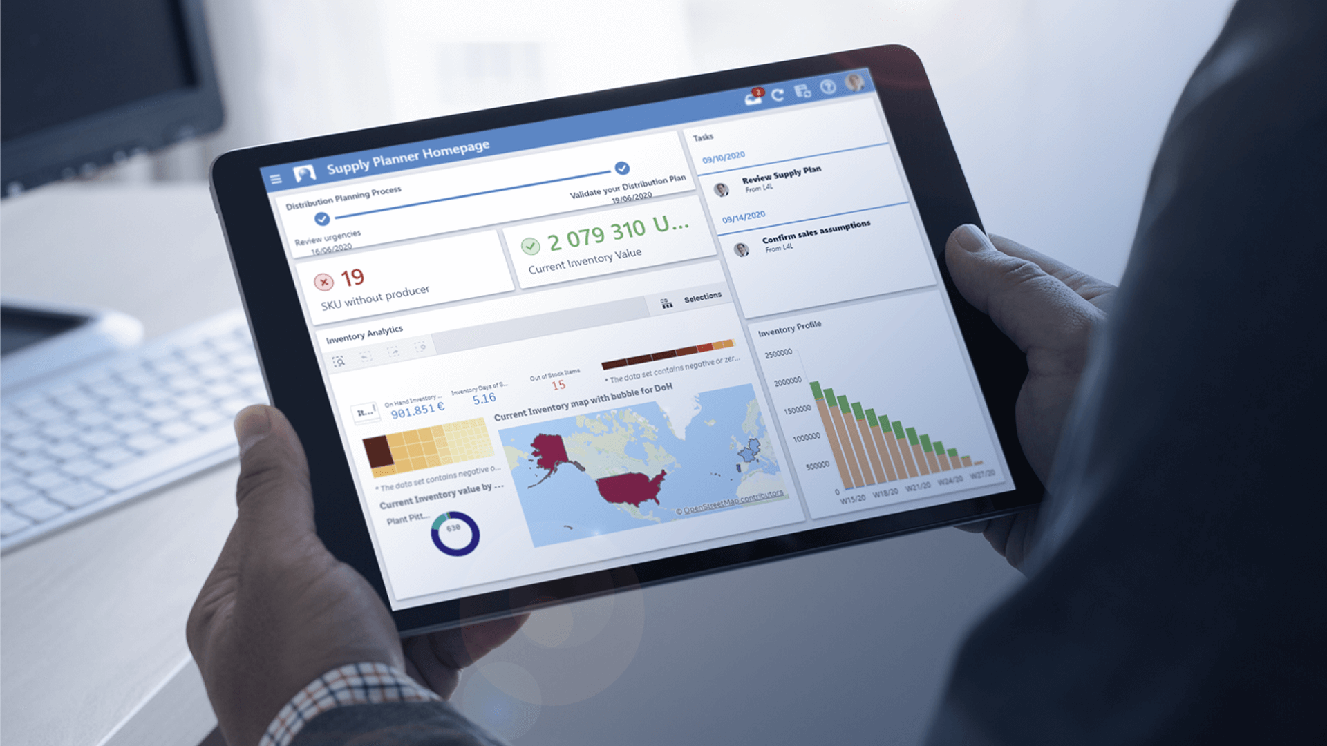 QAD DynaSys Cloud DSCP Software - Digital Supply Chain Planning Dashboard and UX