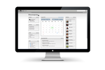 Directorpoint screenshot: The dashboard enables users to manage calendars, view members, surveys, and more