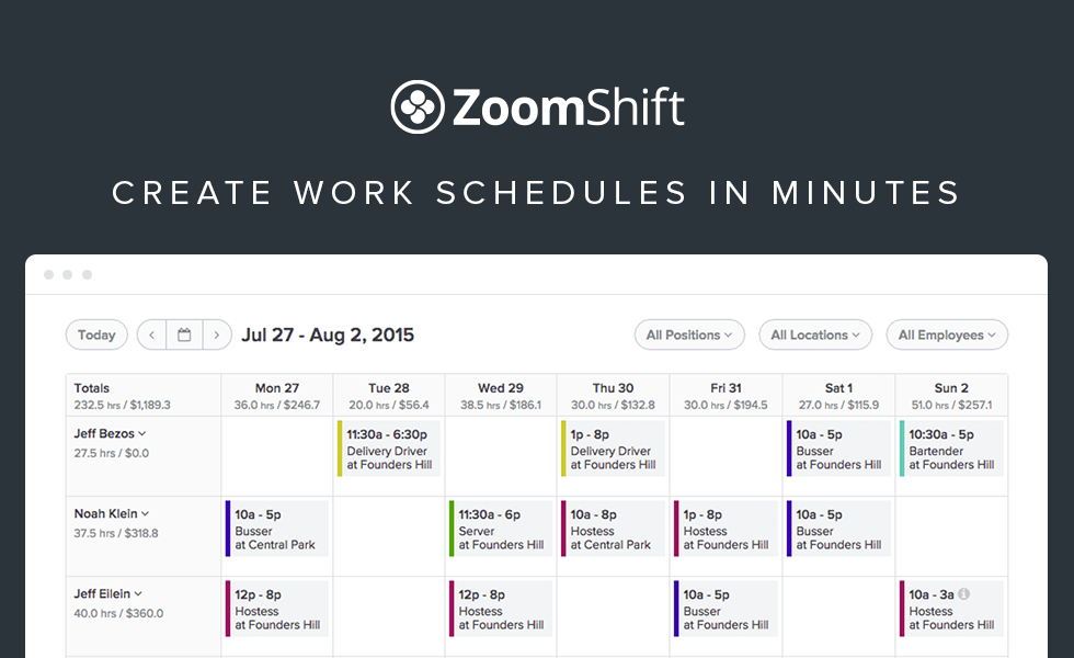 Create Work Schedules In Minutes