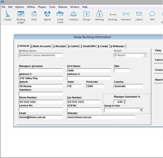 HiRUM Software Solutions Software - Building setup