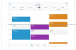 Square Appointments Screenshot: View multiple schedules at a glance, track sales, and customize user permissions to control staff access to business information