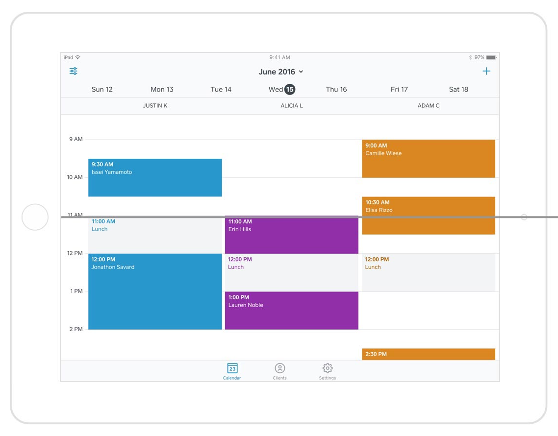View multiple schedules at a glance, track sales, and customize user permissions to control staff access to business information