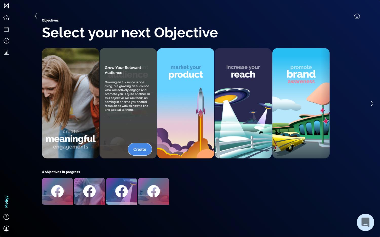 Metigy objective planning screenshot
