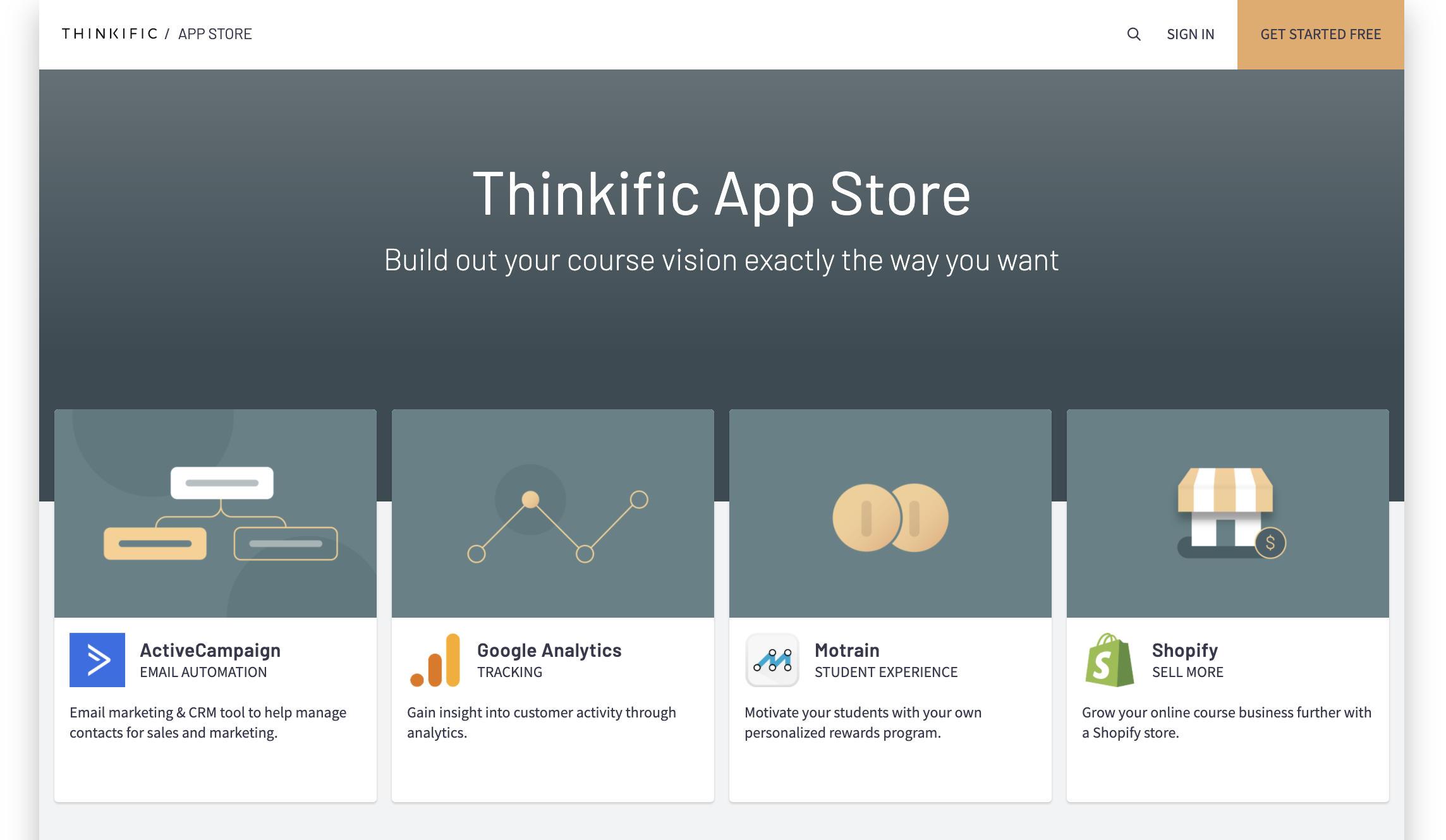 It's never been easier to make your online course vision a reality. Our app store empowers anyone to create meaningful learning experiences, build community or grow a business, no matter their expertise.