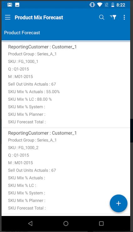 o9 Software Software - o9 product forecasts