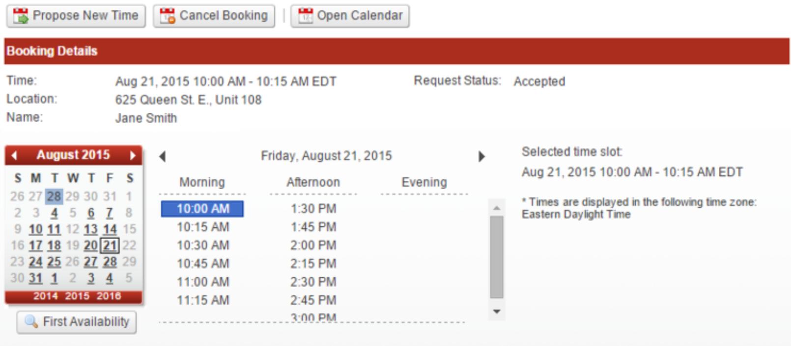 Veribook bookings