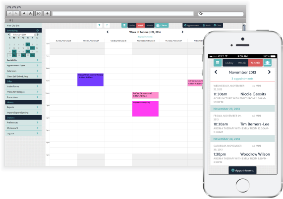 Acuity Scheduling calendars