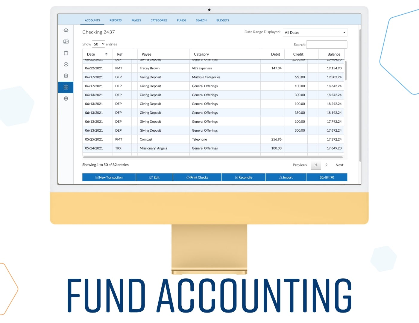 ChurchTrac Software - Fund Accounting