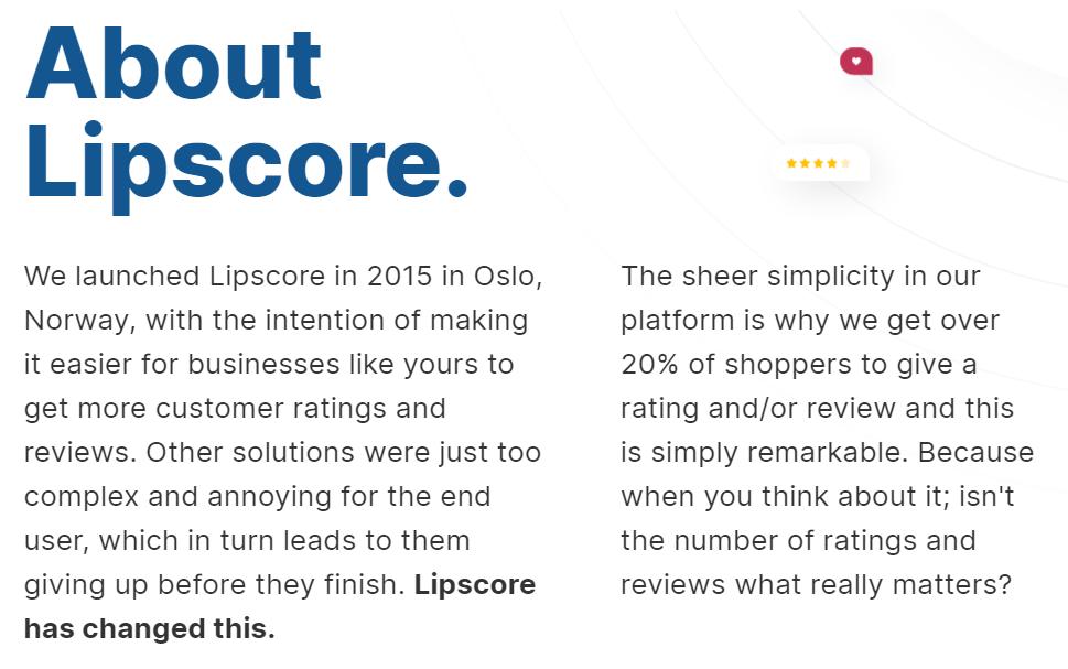 About Lipscore
