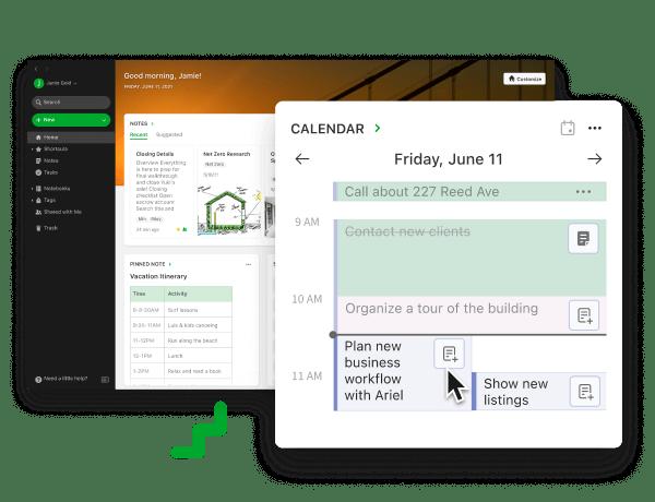 Evernote Teams Software - Connect to Google Calendar