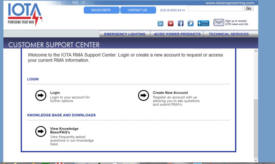 RenewityRMA customer portal