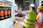 Vibe screenshot: Large format digital screens bringing workplace safety to life