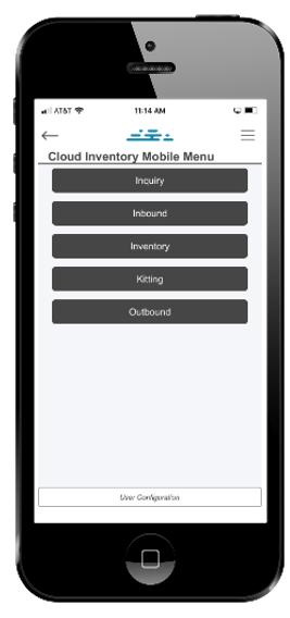 DSI®'s Cloud Inventory® Mobile Menu