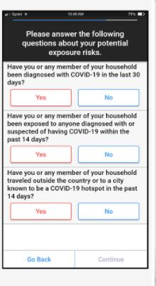 Maptician pre-health screening survey