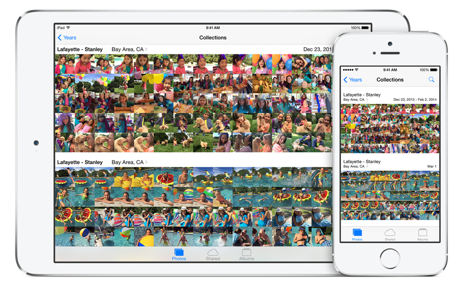 Photo collections on iCloud