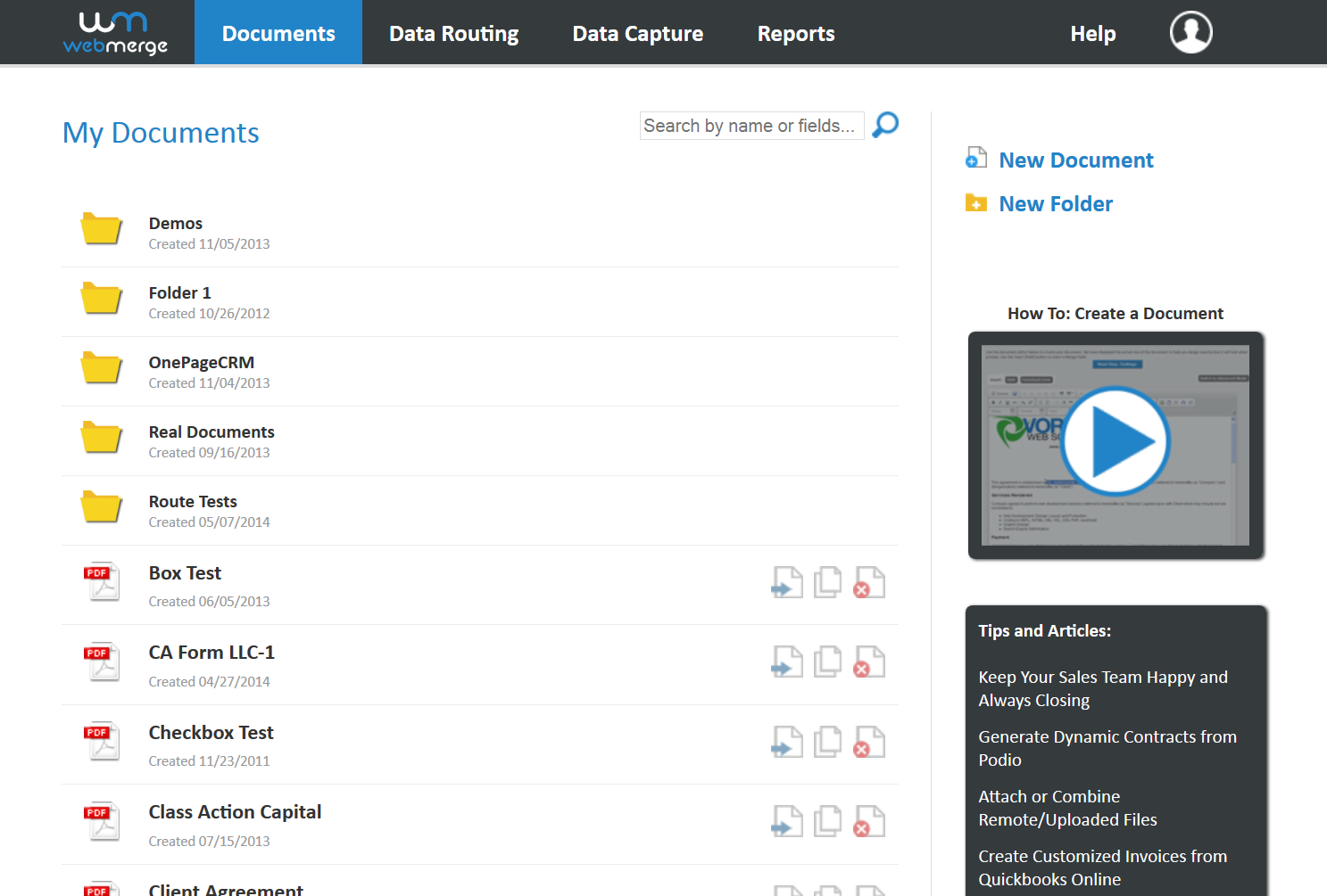 Formstack Documents Manage documents from a dashboard