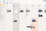 HootSuite screenshot: Scheduling: Plan social content as a team with an intuitive, shared planner that features collaborative post drafts and built-in approval workflows.