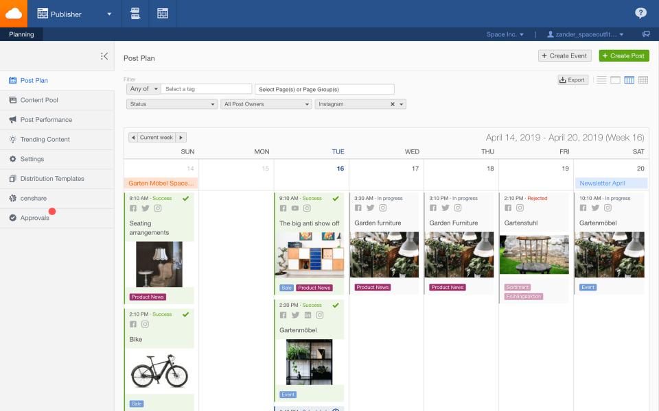 Facelift Cloud Software - Facelift Cloud post scheduling screenshot