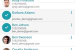 Chmeetings screenshot: Organize member contact information