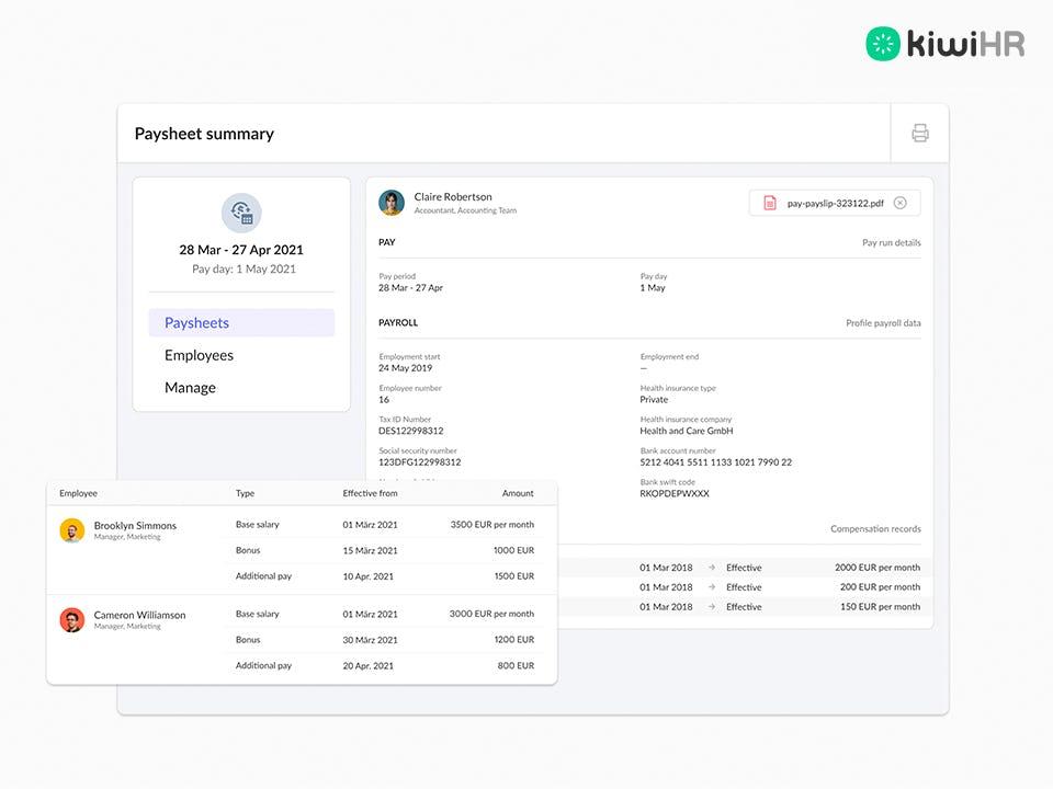 kiwiHR Software - 7