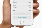 Square Appointments Screenshot: Accept all forms of payment with the Square Appointments app & Square hardware