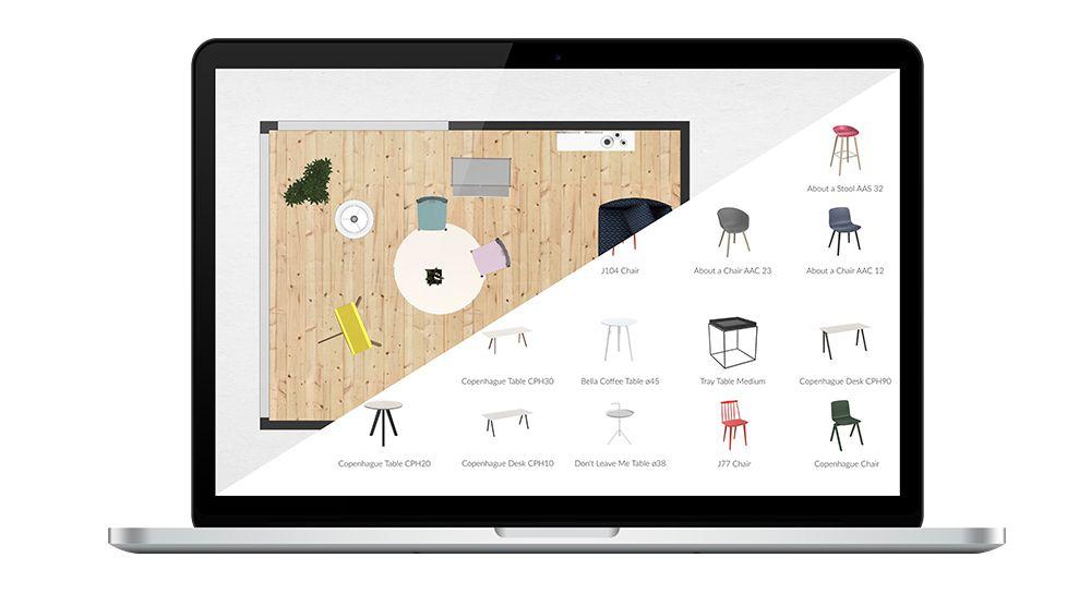 Roomle store layout design screenshot