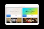 Capture d'écran pour FlowVella : Choose from a broad range of customizable presentation templates
