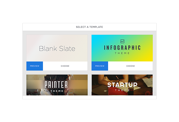 Choose from a broad range of customizable presentation templates