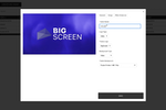 Big Screen screenshot: With Big Screen, users can control and customize themes