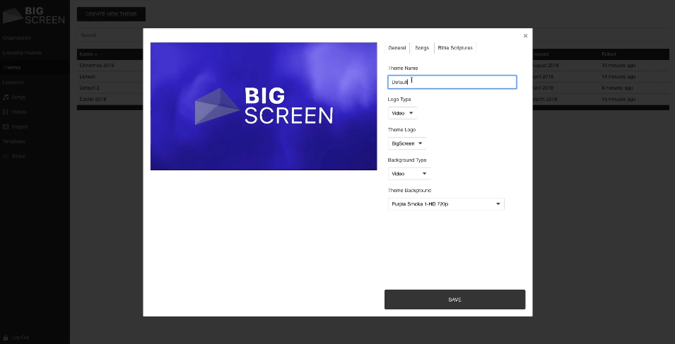 With Big Screen, users can control and customize themes