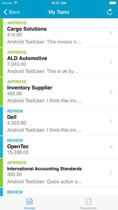 Users can manage their tasks through Basware's native iOS and Android apps