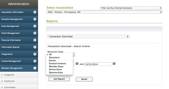 Track the flow of money with financial reporting options
