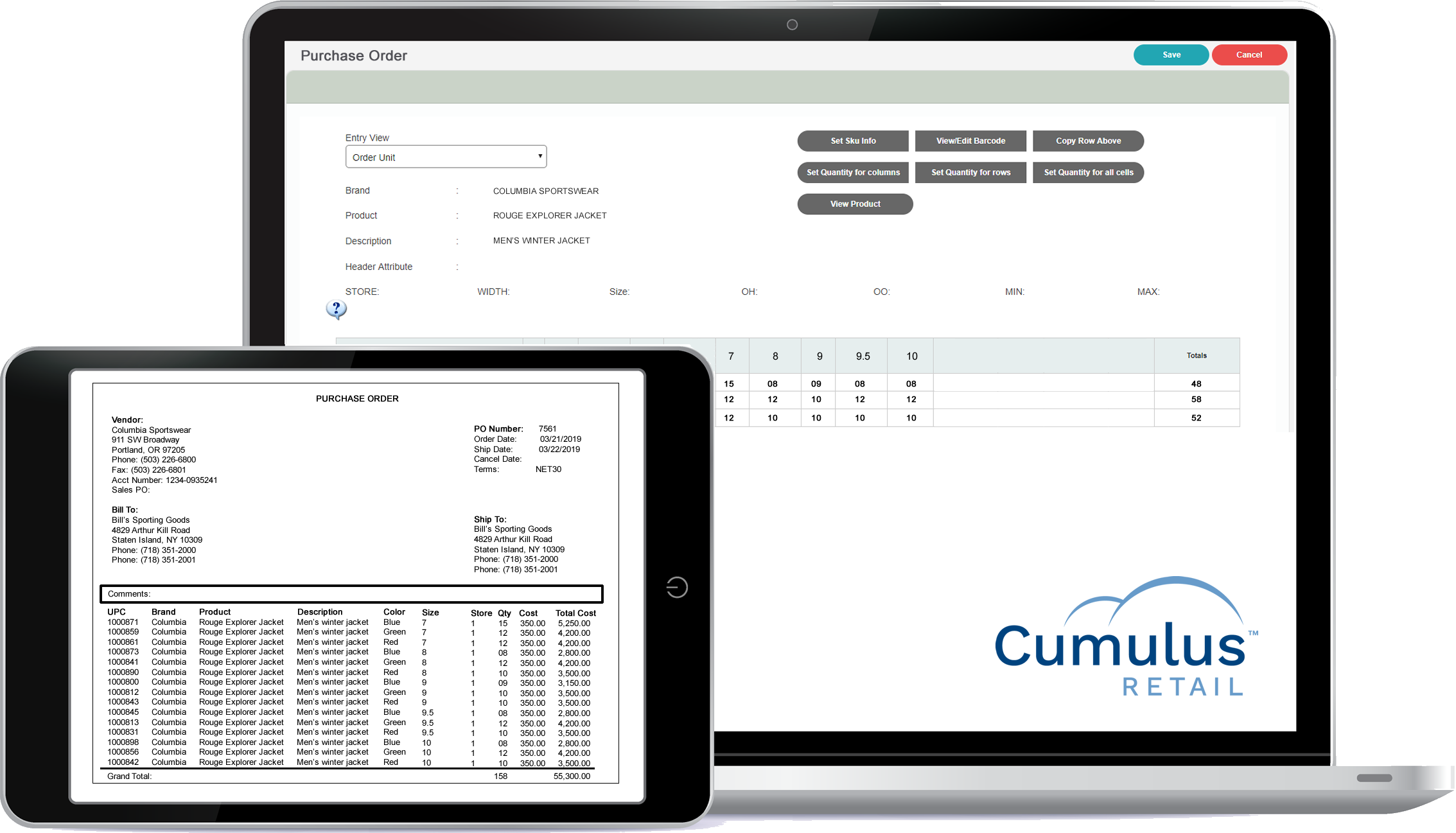 Cumulus integrates with many vendors/distributors for catalog import, automated ordering, online vendor feeds & even drop shipping.