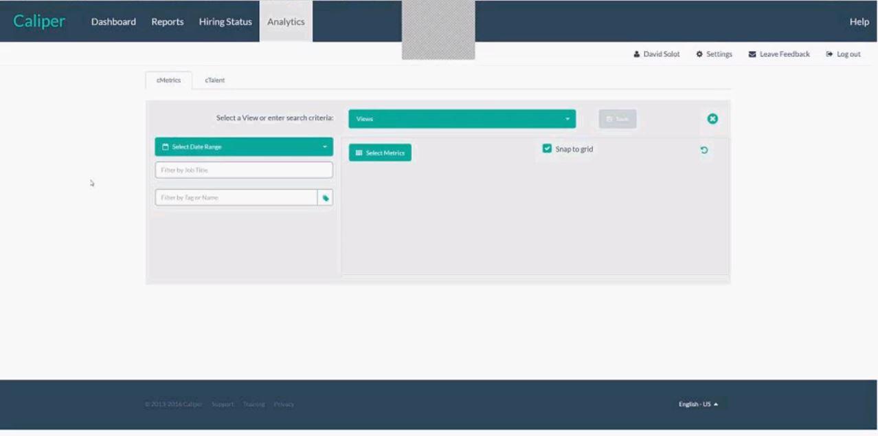 Caliper Essentials screenshot: Caliper metrics filters screenshot