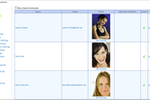 """Main Street Sites screenshot: The """"teachers"""" grid is where users can add information on each instructor"""